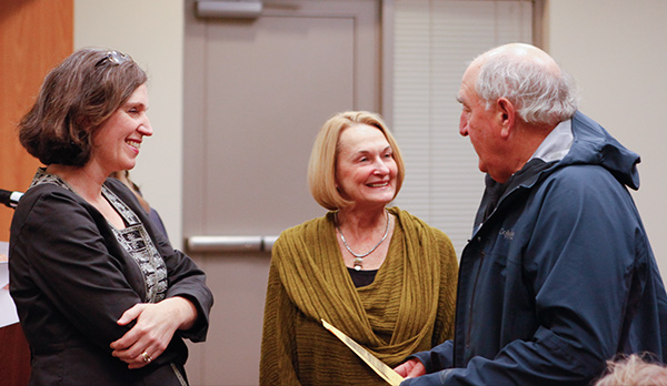 Kathleen Flenniken, Peggy Flynn, and Bob Rose